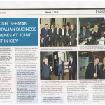 Turkish, German and Italian Business Dinner in the Ukrainian Media