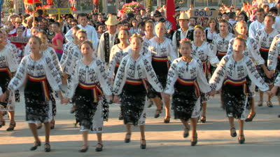 stock-footage-tulcea-romania-august-romanian-traditional-dance-at-the-international-folklore-festival-on